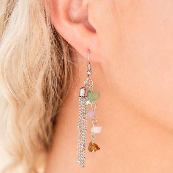 Stone Sensation - multi - earrings
